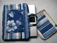 Bolsa para Notebook (Passamanaria) Tags: azul bag notebook handmade sewing craft homemade cases laptopbag netbook artes bolsinhas necessaires passamanaria lonita costurinhas