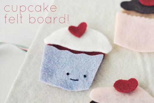 cupcake felt board!