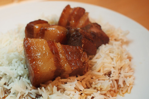 Chinese style pork belly braised in cider