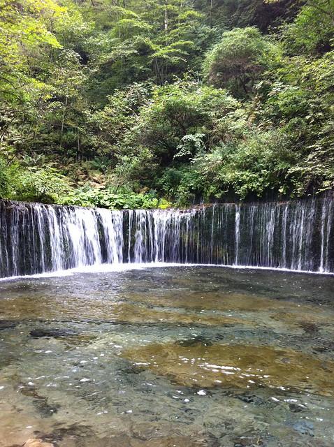 軽井沢の滝のフリー写真素材