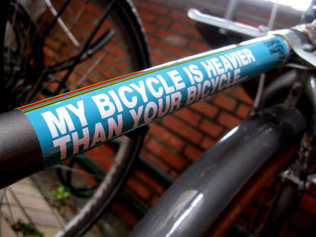 My Bicycle is Heavier Than Your Bicycle