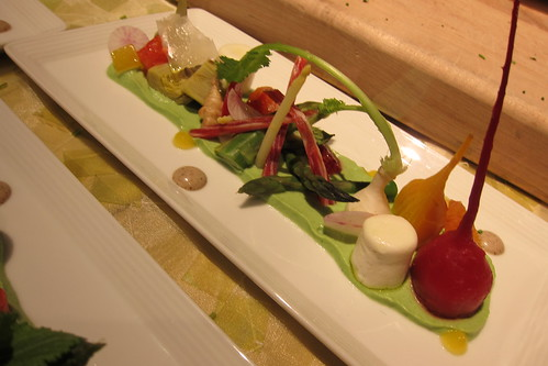 2011 Oscar Food: Salad of Heirloom Beets with Oranges, Almonds, Goat Cheese, Citrus Shallot Vinaigrette