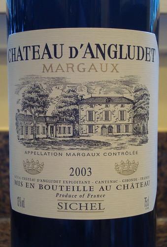 2003 Château d'Angludet