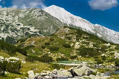Pirin peak Vihren (P.I.Petrov) Tags: park blue mountain lake green nature clouds hiking bulgaria national landsccape pirin парк vihren българия езеро резерват пирн натционален