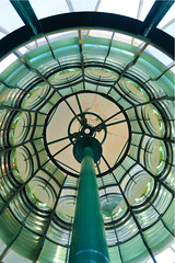Fresnel lens, the Cloch Lighthouse, Gourock, Scotland (iancowe) Tags: lighthouse glass lens french scotland clyde greenock lighthouses crystal scottish smith stevenson trust fresnel gourock strathclyde cloch wbnawgbsct