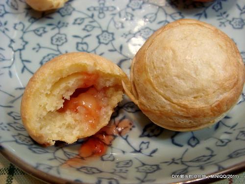 20110212 DIY 章魚燒雞蛋糕_06 草莓果醬