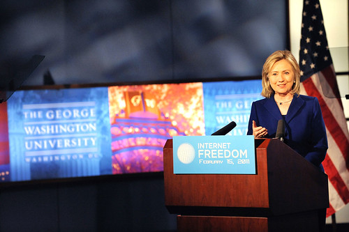 Hillary Clinton announces Obama Administration's Internet Freedom Policy