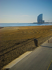 click here to add a title (duboramic) Tags: barcelona morning blue sea sky sun beach azul hotel mar spain sand curves bcn cielo barceloneta catalunya vela catalua