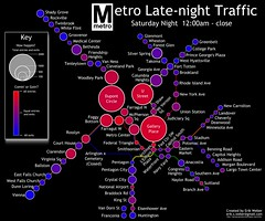 Late Night Metro Traffic (HerrVebah) Tags: dc washington metro latenight transit nightlife infographic inkscape wmata ridership