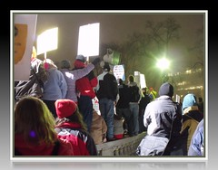 Downtown Madison Rally Capital (Digital_Third_Eye) Tags: lake snow cold wisconsin capital solidarity madison february wi masses scottwalker congregating peacefulrally digitalthirdeye