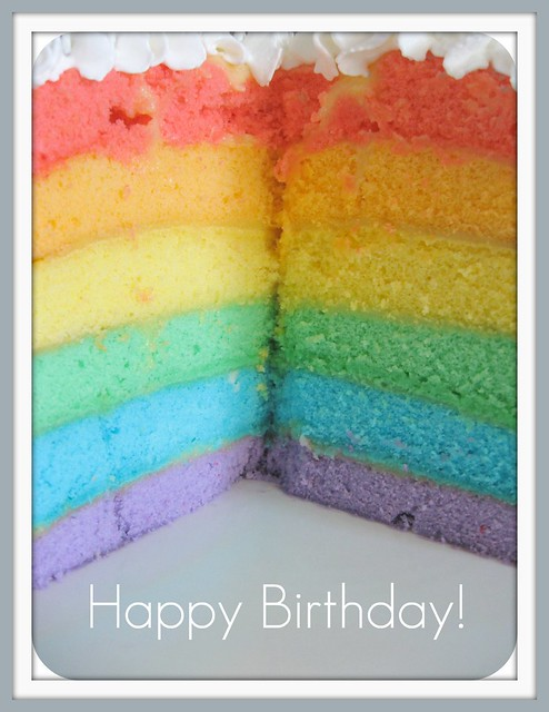happy birthday to me  rainbow cake sliced wide open by Gigi amp Big Red (packing again)