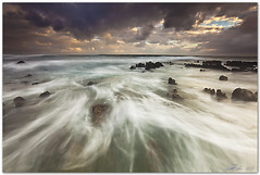 stormy water (chris frick) Tags: morning sea sky seascape motion water clouds landscape dawn rocks wideangle filter lee sicily sanvitolocapo canonef1635mmf28liiusm chrisfrick canoneos5dmark2 06gndsoft 075gndhard
