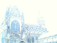 Sint Jan (Julka2009...(mostly off)) Tags: lighting windows winter snow cold church exposure view cathedral contemporaryart thenetherlands scene covered 2010 shertogenbosch nomanipulation northbrabant sintjan cityart otw iphoneart iphone3gs art2011