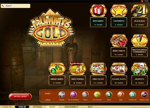 Mummy's Gold Casino Lobby