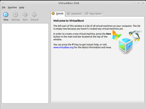 Virtual Box Ose on Linux Mint Debian Edition