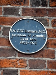 Photo of G. W. Eustace blue plaque