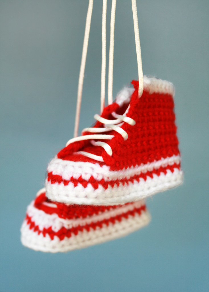 Red converse shoes