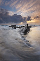 Gunwalloe Scales (Joe Rainbow) Tags: sunset sea seascape water rock vertical clouds landscape golden evening coast cornwall vert scales filters joerain