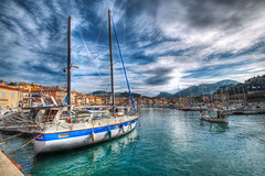 Sail Away (marcovdz) Tags: france clouds sailboat port boat fisherman sailing provence nuages bateau pcheur cassis hdr voilier 3xp