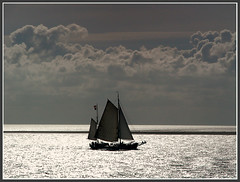 Sailing (Jan Visser Renkum) Tags: sea clouds waddenzee zeilen vlieland sailing wolken zee harlingen sailingship zeilboot waddensea
