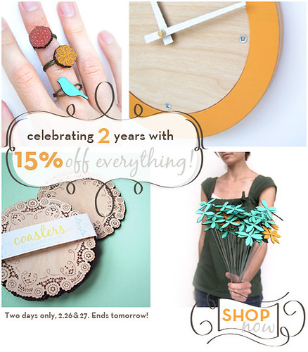 celebrating 2 years sale!
