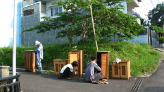 Finishing Touch on Dumped Furnitures (Ikhlasul Amal) Tags: street furniture dump sell
