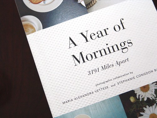 a new book :: a year of mornings