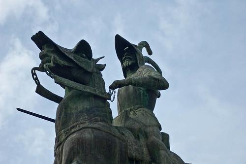 La estatua de Pizarro en Trujillo
