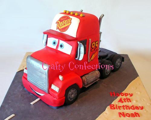 Mack truck cake