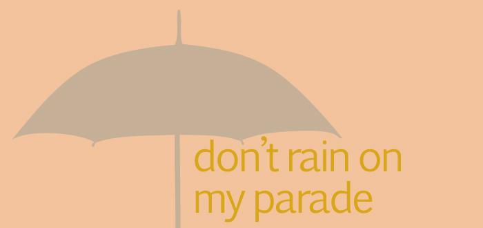 dash typography words style design graphics type letters umbrellas rain