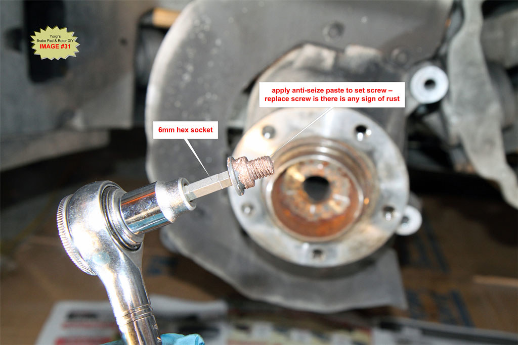 Rotor Rusted to Hub Install New Rotor on Hub
