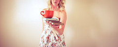 COFFEE BOWL! (Theresa Benedetto) Tags: coffee girl vintage dress books bowl mug coffeemug addict gilmoregirls