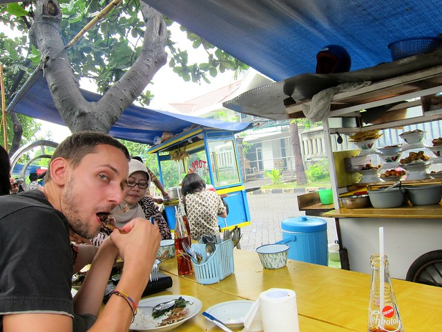 Eating At A Stall In Jakarta