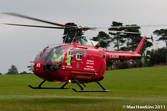 Wales Air Ambulance Birthday - G-WAAS Departing (Max Hawkins) Tags: birthday charity bond helicopters pilot eurocopter ec135 lifesavers porttalbot airambulance margam walesairambulance