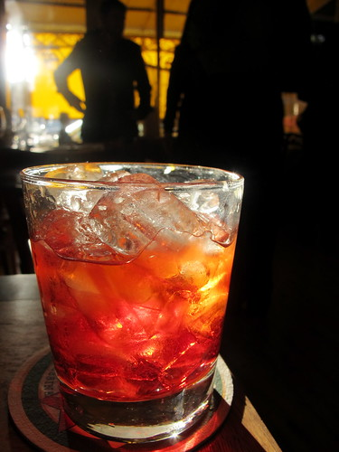 Negroni at sundown