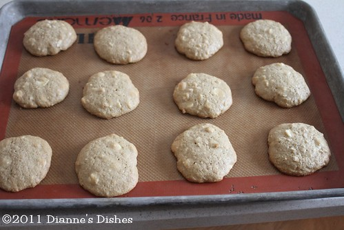 White Chocolate Cashew Cookies: Baked