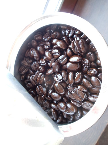 Freshly opened coffee.