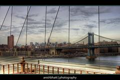 View from Brooklyn Bridge (Anishbhatt1) Tags: nyc newyork skyline brooklynbridge manhattanbridge thechallengefactory