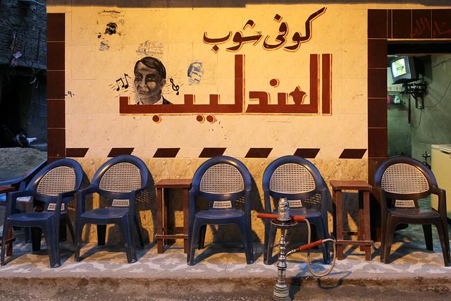 エジプト ルクソール 夕暮れのカフェ