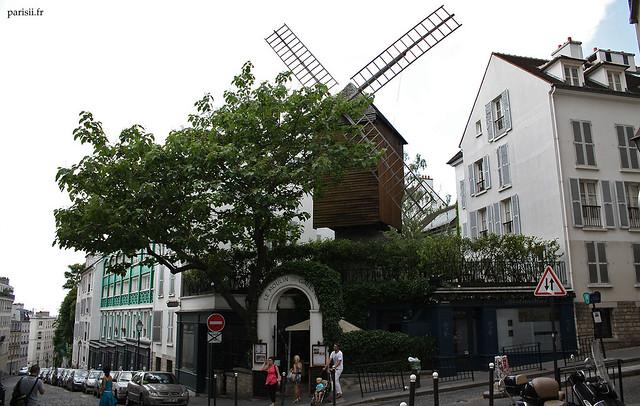 Le Moulin de la Galette : moulin Radet