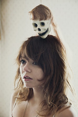 (yyellowbird) Tags: house selfportrait abandoned girl skull cari