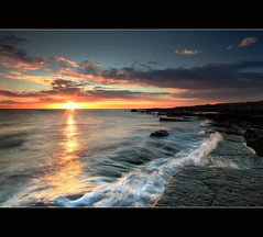 Dawn Airbow Point (angus clyne) Tags: ocean sea cliff sun holiday seascape west nature water grass st night sunrise canon golf landscape fossil dawn drive bay coast scotland weed andrews day break angle fife angus path walk south dune north wide scottish wave east forth bayside splash rise anstruther elie fock firth clyne kingsbarns colorphotoaward