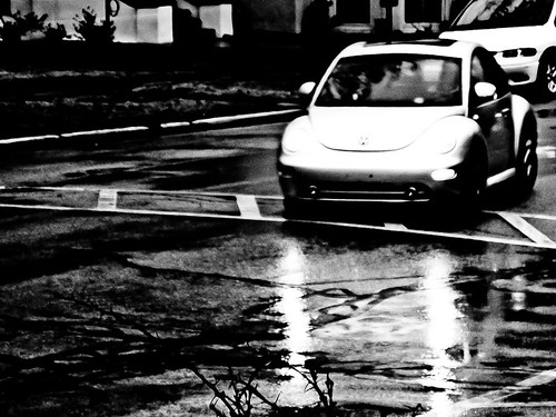 wet street reflections