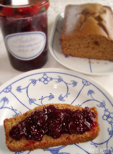 Applesauce Bread with Blackberry Compote