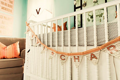 Vivi Charles nursery 2 (mscott218) Tags: pink blue windows favorite white coral children mirror design bedroom interiors interior nursery childrens curtains chevron interiordesign playroom drapery