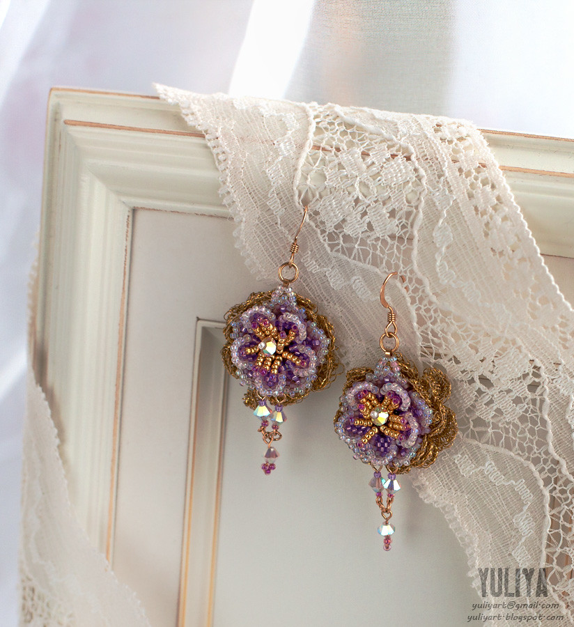 earrings Violet Aura