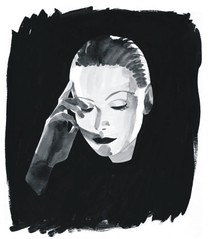 Jordi Labanda - Portrait of Greta Garbo