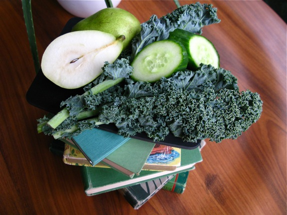 green fruits vegetable healthy books 001