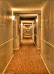 The Long Walk (Stephen Lee Carr) Tags: california night canon vintage walking eos rebel hotel evening hall losangeles nikon raw noir apartment walk kubrick gothic gritty symmetry retro hallway adobe vivitar complex hdr lightroom theshining playadelrey photomatix overlookhotel 550d