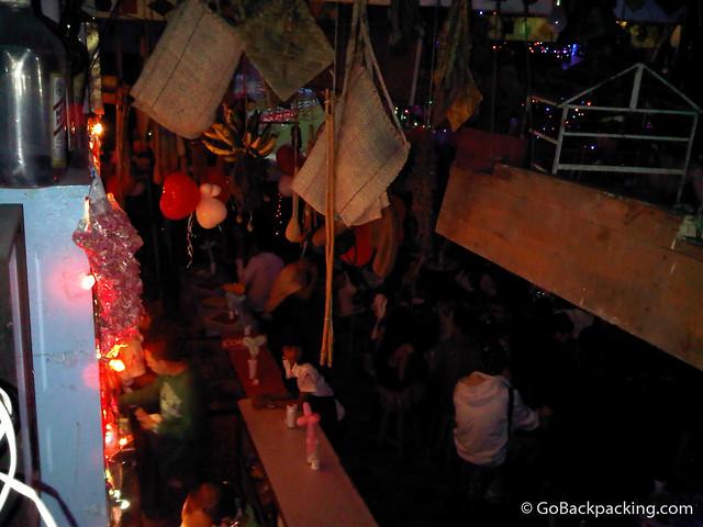 The bar at La Tienda, Envigado